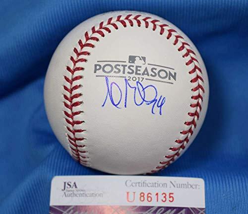 Andrew Miller JSA COA Signed 2017 Post Season BasebaLL Autograph Authentic