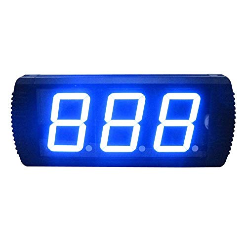 KEKEYANG Reloj de pared de, 4 pulgadas relojes de alarma LED Digital Intervalo de temporizador de cuenta regresiva del temporizador Training cronómetro reloj de pared electrónico (Color: Negro, Tamaño