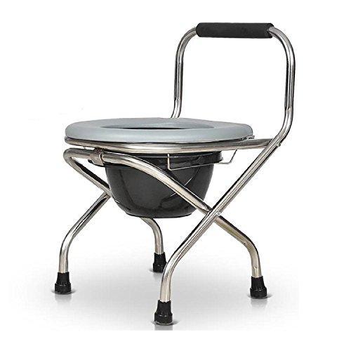 GAOJIAN Silla Cómoda Embarazada De Acero Inoxidable Dobladillo Portátil Silla De Baño Sillón Sentado De Hombre Viejo Inodoro Móvil Pesando 150 Kg
