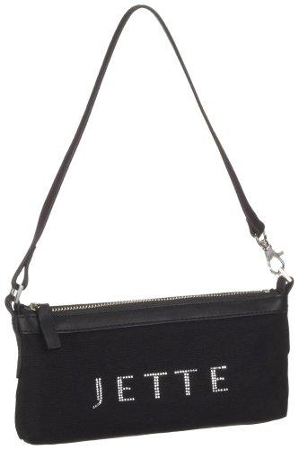 JETTE 03/81/02005-900, Damen Clutch, schwarz, 23,0x12,0x5,0 cm