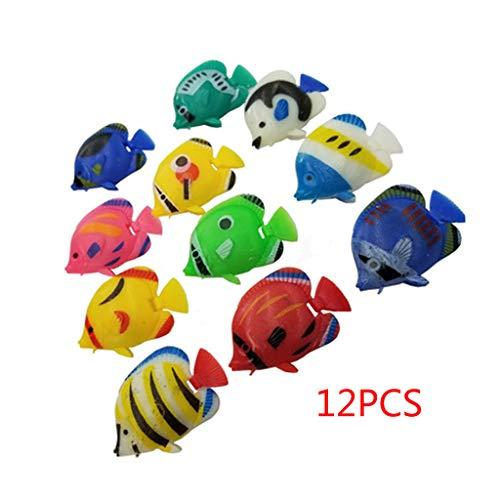 siwetg 12 stks DIY drijvende plastic tropische vissen Aquarium decoratie baby bad speelgoed