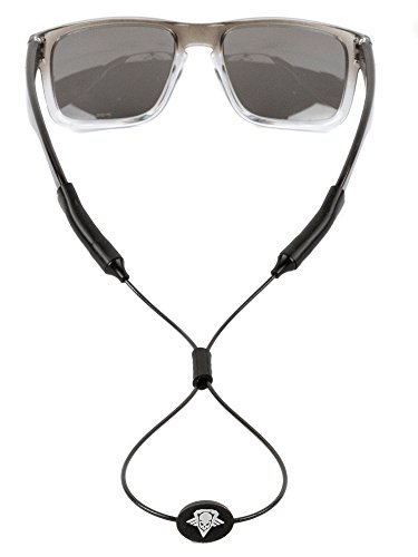 Relentless Tactical Tactical Sunglass Straps - Made in USA - Patent Pending Design - Universal Fit Glasses Retainer System for Any Shooting/Safety or Sunglasses - Tac Strapz Adjustable Black