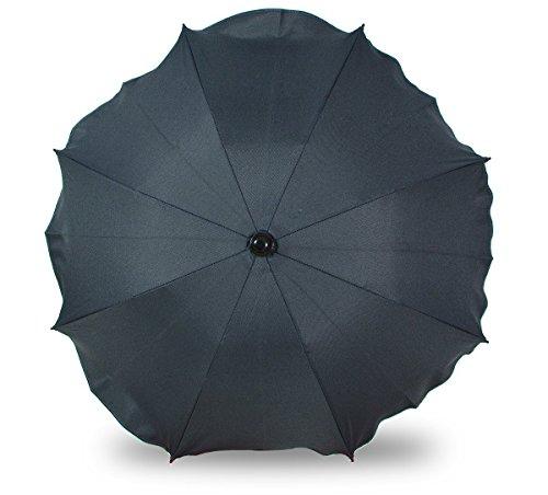 Universal Sonnenschirm Regenschirm für Kinderwagen und Sport Buggy, Babywagen Schirm mit Universal Halterung, UV-Schutz50+ Sonnensegel Sonnenschutz (Graphit)