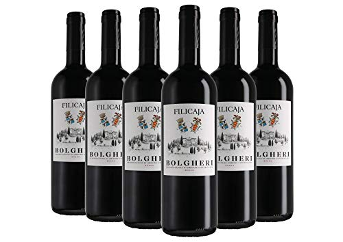Bolgheri DOC Collezione del Conte Villa da Filicaja 2019 6 bottiglie da 0,75 L