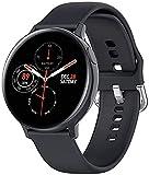 TCHENG Pantalla táctil Completa de 1.4 Pulgadas ECG Smart Watch Men IP68 Deporte Impermeable SmartWatch 7 días de Espera para Android iOS Teléfono (Color : Black)