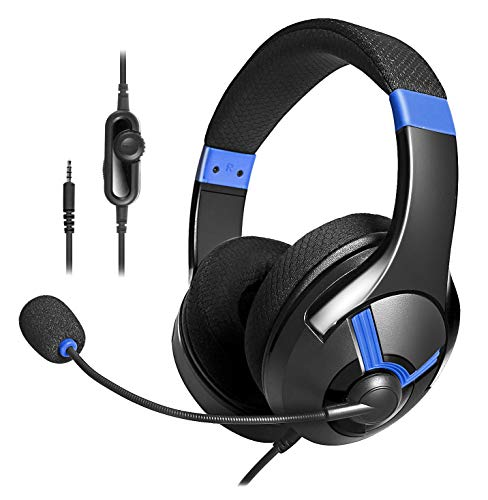 AmazonBasics - Gaming-Headset - Blau