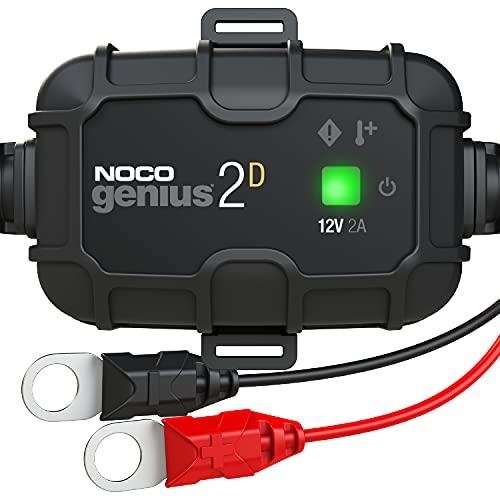 NOCO GENIUS2DEU, 2A 12V cargador de batería a bordo de montaje directo, mantenedor de batería y desulfador para auto, camión y caravana