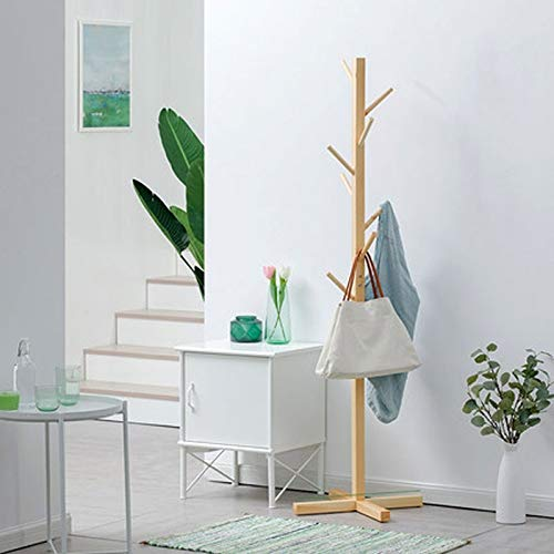 Lfixhssf massief hout eenvoudige landing garderobe eenvoudige hanger mode kledingstandaard woonkamer opslag slaapkamer hanger (50x165cm) Lfixhssf natuurlijk