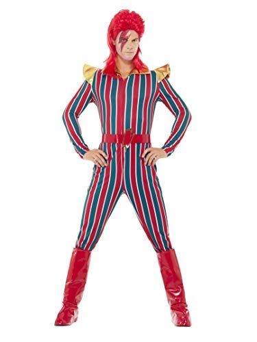 Smiffys 43858M Herren Weltraum Superstar Kostüm, Jumpsuit, Gürtel und Stiefel Überzieher, Größe: M, 43858