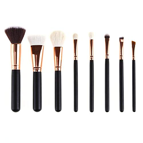 MEIYY Pinceau de maquillage 8Pcs Rose Gold Makeup Brush Set Foundation Powder Face Contour Concealer Brushes Make Up Synthetic Hair Kits