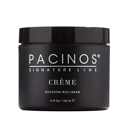 Pacinos Creme, Medium Hold Sculpting Wax Cream, Long Lasting Definition with a Medium Shine for All Hair Types, Conditions and Moisturizes Hair while Adding Volume and Texture, 4 oz