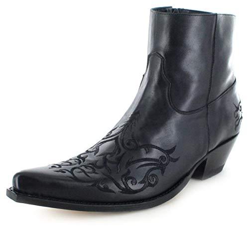 Sendra Boots Unisex Cowboy Stiefel 7216 Snowbut Negro Lederstiefelette Westernstiefelette Schwarz 39 EU