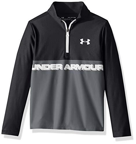 Under Armour Camiseta con Media Cremallera UA Tech Sudadera, Niños, Black, YMD