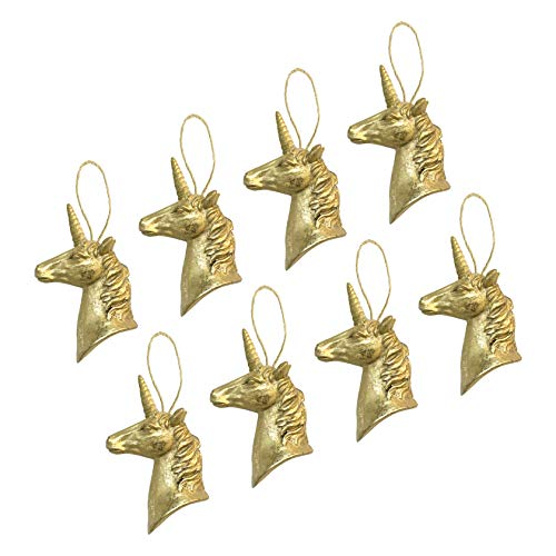 Colgantes para árbol de Navidad de Robelli, diseño de Unicornio Dorado