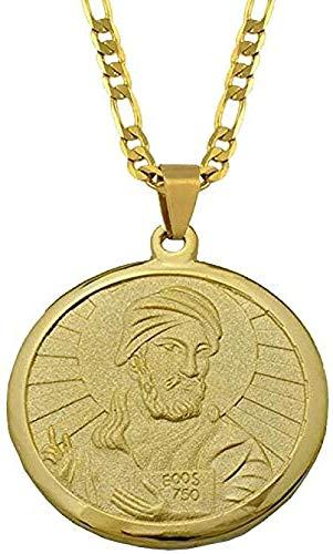 Collar Moda Islam Shia Prophet Muhammad Imam Ali Fotos Collares pendientes para mujeres Hombres Color dorado Joyería árabe 45 cm por 3 mm Collar colgante Regalo para hombres Mujeres Niñas Niños