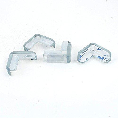 Petite Sporter Lot de 4 protège-coins pour table et bébé Protection de protection Beige, transparent