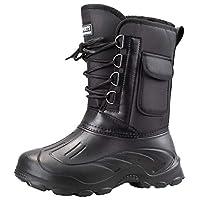 [IJGE] メンズ ショート ブーツ スノーブーツ ブラック レースアップ 柔らかい メンズブーツ 撥水 防滑 通気 ショートブーツ 厚底 防水 ハイキングシューズ カジュアル 防寒靴 紳士靴 26.0cm レインブーツ ビジネス フォーマル スノーシューズ
