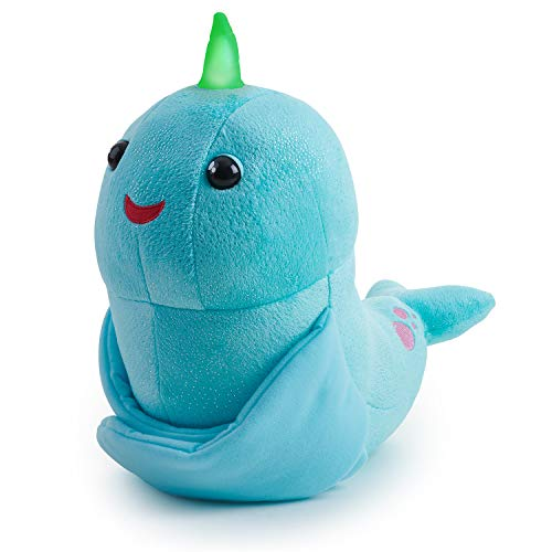 WowWee Fingerlings Hugs - Nikki (Blue Glitter) - Interactive Plush Narwhal