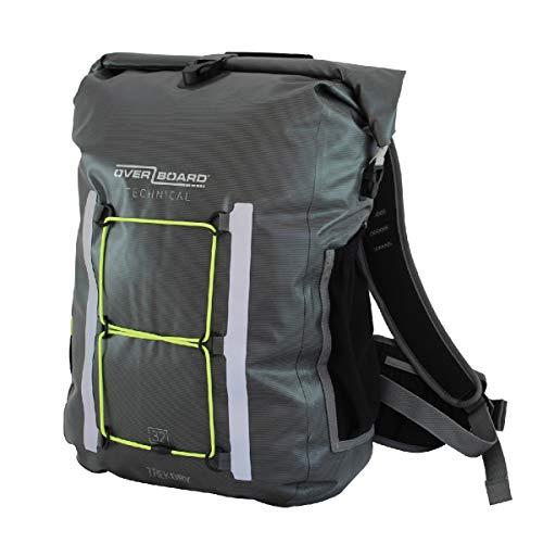 Overboard Unisex-Erwachsene TekDry Backpack Wasserdichter Rucksack, grau, 20 L