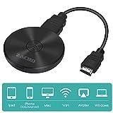 Zacro Wireless WiFi Display Dongle HDMI, Mini Bildschirmfreigabe Display Empfänger 4K, 5 GHz + 2,4 GHz Drahtloser Display Adapter für Android Smartphone / PC / TV / Monitor / Projektor ,Schwarz