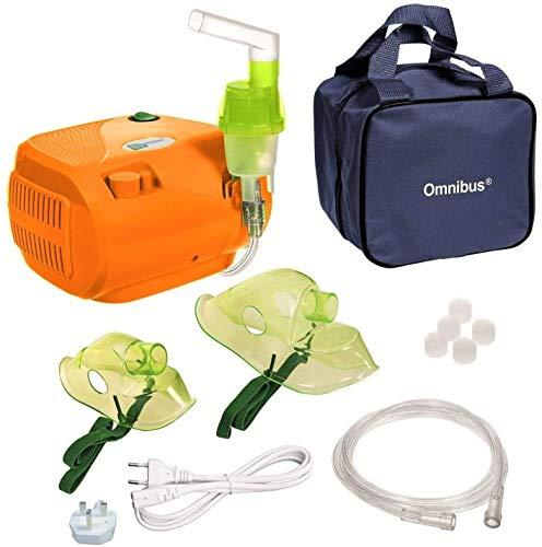 Omnibus BR-CN116B - Nuevo inhalador compresor Inhalador compacto para inhaladores bebe electrico dos enchufes UK EU (naranja)