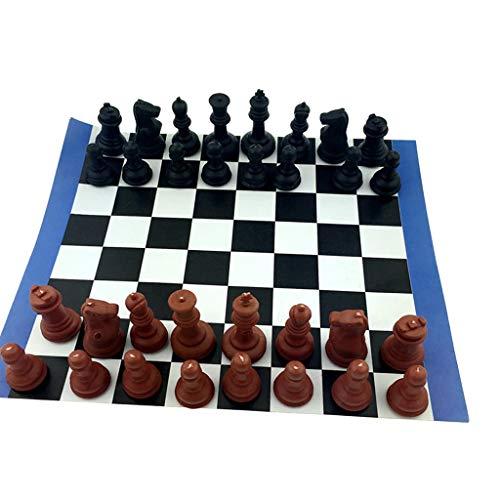 URNOFHW Juego de ajedrez Internacional de Ajedrez wi / 180 mm Tablero de ajedrez Tabla del Juguete del Juego