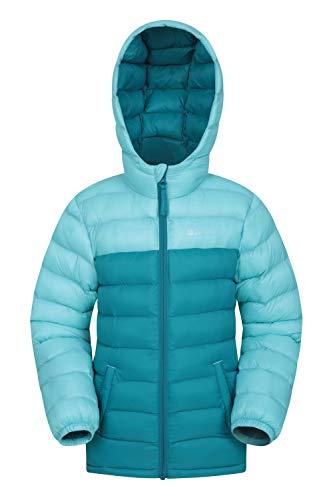 Mountain Warehouse Seasons Gepolsterte Jacke für Kinder, geeignet für alle Jahreszeiten - wasserdichte Winterjacke, leicht & warm Blaugrün 9-10 Jahre
