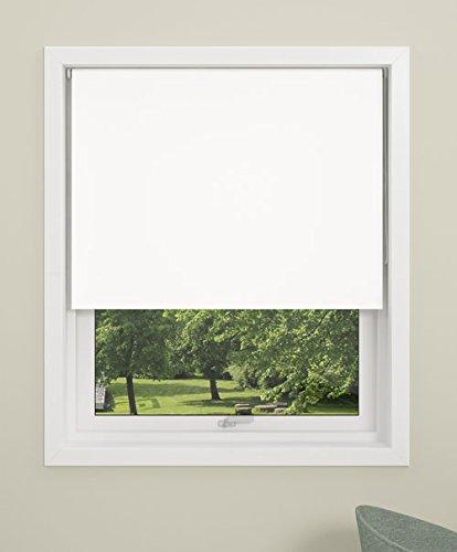 Debel - Estor Opaco Enrollable, 100x 150cm, Mini 100% poliéster, Blanco, 80 x 150 cm