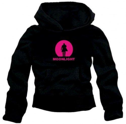 Coole-Fun-T-Shirts Moonlight Hoodie schwarz/gelb Alex O'Loughlin GR.L