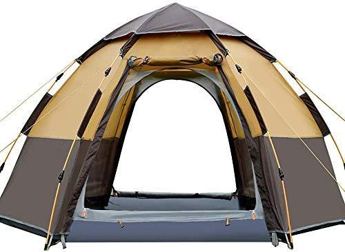 LHQ-HQ 5-8 Personas-portátil instantánea Carpa Plegable Camping Cúpula del pabellón de Viajes Senderismo Beach Alquiler de Deportes al Aire Libre Gear (Color : Brown)
