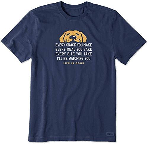 Life Is Good Crusher Herren-T-Shirt, Gr. L, Dunkelblau