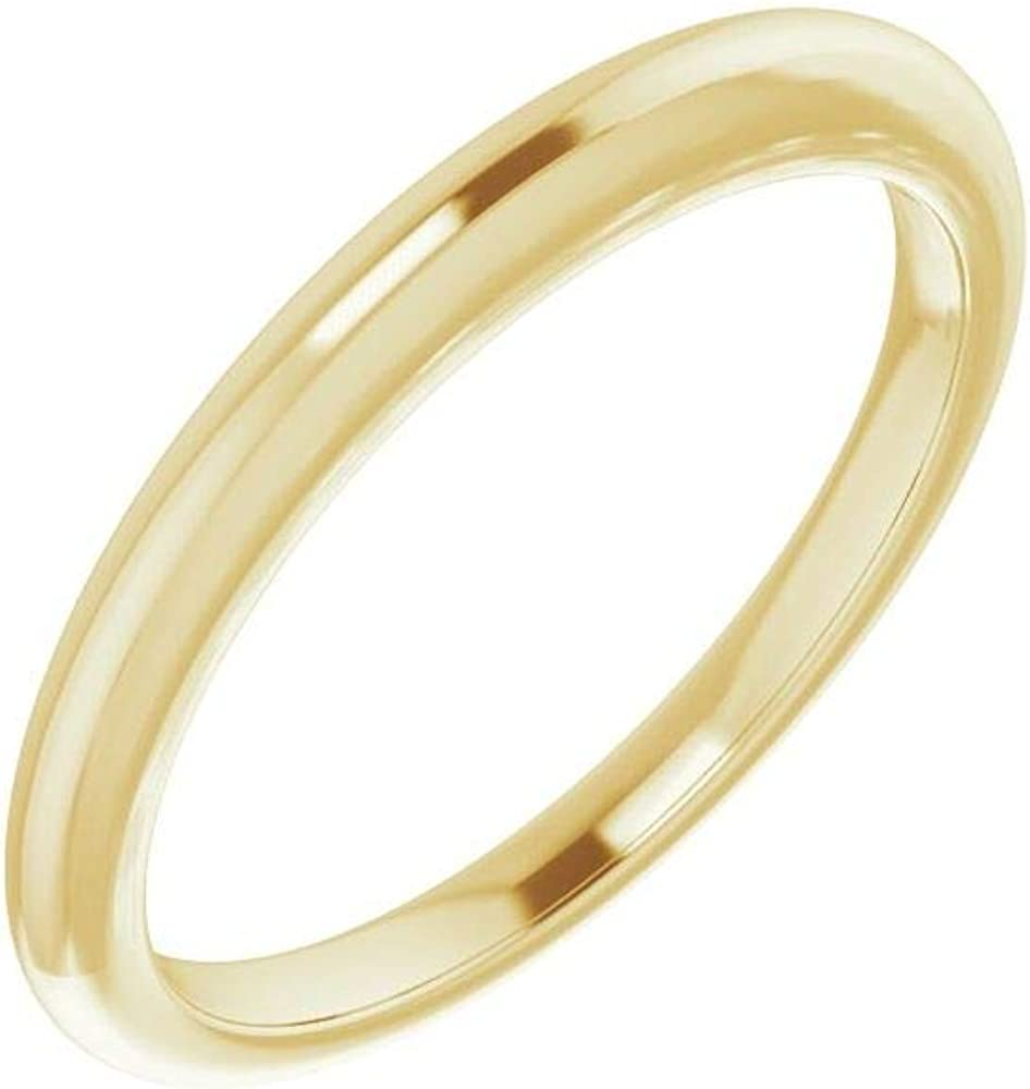 Solid 18K Super sale Yellow Gold Curved Band Notched 5.5x3.5mm for Wedding Max 52% OFF