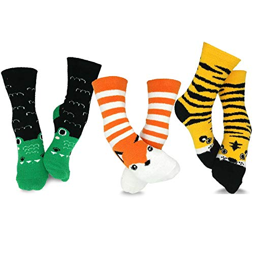 TeeHee Christmas and Holiday Fun No Show Socks for Women 3 Pair Pack (Reindeer Penguins) - http://coolthings.us