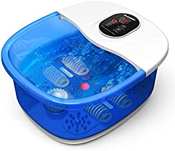 Foot Spa Bath Massager Arealer Foot Spa with Heat and Massage and Jets, Bubbles, Digital Temperature Control, 4 Shiatsu Massage Rollers with Mini Massage Points Relieve Foot Pressure Fathers Day Gifts