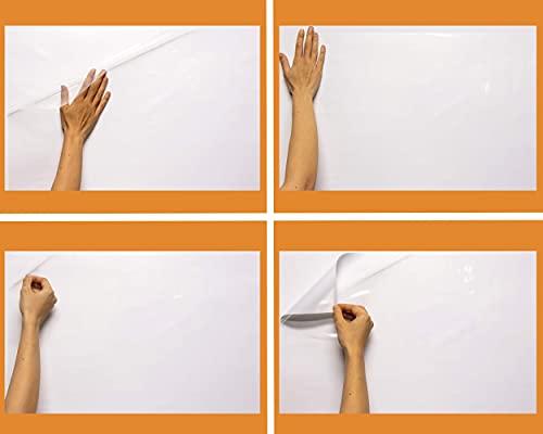 elektrostatische & selbsthaftende & weiße & durchsichtige Whiteboard Folie von Stricee – Magic Paper (60cmx100cm), haftet an allen Oberflächen, ideal für Büros, Home-Office