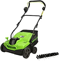 Greenworks Tools 40 V GD40SC36 wertykulator akumulatorowy (litowo-jonowy, 40 V, 36 cm, szerokość robocza 3900 obr./min,...