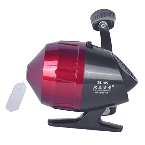 chiwanji Mulinello da Pesca in Lega Saltwater Closed Face Under-Spin Reel 3.0: 1 Red