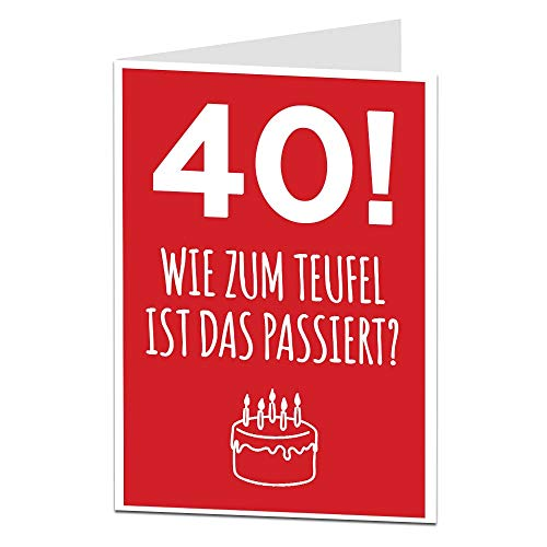 LimaLima Lustiger Erwachsener 40. Geburtstag Lustige Happy Birthday Karte fur Freund Ihr Ihn Bruder & Schwester Lustiger Erwachsener 40. Heute