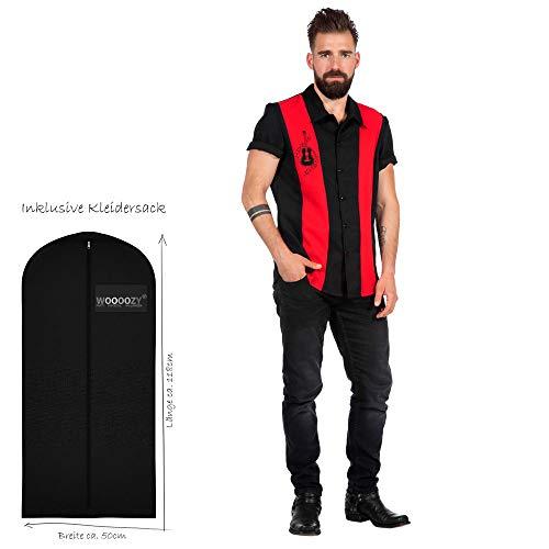 WOOOOZY Premium-Line Herren-Hemd Rockabilly Dean, Gr. 52 - inklusive praktischem Kleidersack