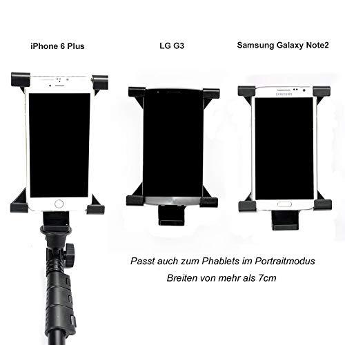 Zacro Universal Tablet iPad Stativadapter Halter Halterung Clip Mount Adapter für iPad 2, 3, 4,ipad(2017),iPad Air 1, 2, 3,iPad Mini 1st, 2, 3, 4,ipad pro(9.7 inch),Samsung Galaxy Tab,Samsung Galax Tab S3,Tab 2,Tab 3, Tab 4, Tab Pro, Tab S,Asus ZenPad 3S 10,Google Nexus,Google Pixel C und andere Tablets von 4.8 - 7.8 Zoll
