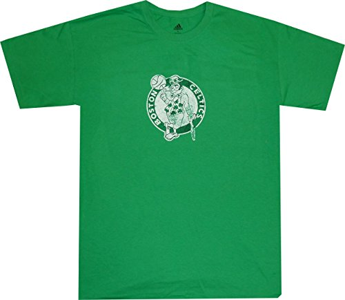 adidas Boston Celtics Faded Retro Logo T Shirt (Large)