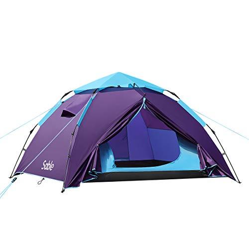 Sable Tente Camping 3 à 4 Personnes, Tente Dôme...