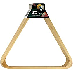 Viper Billiard/Pool Table Accessory: 8-Ball Rack, Hardwood Triangle, Holds Standard 2-1/4 Sized Balls