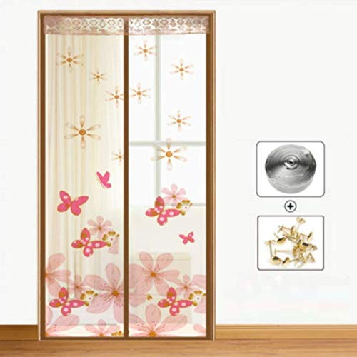 Z Guo Kitchen Bedroom Anti-Moskito-Ventilation-magnetische Schirm-Tür-Sommer-Stiller Rahmen-Flausch-Flausch-Magnetvorhang-weicher Vorhang-Sicherheits-Verschlüsselung Starke Gitter-Schirm-Tür, F_90 *