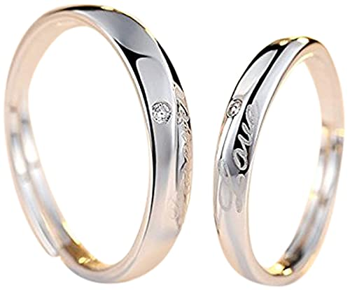 Univarcブランド【メーカー保証書付属】 Forever Love 純銀製 ペアリング フリーサイズ ジュエリークロス ポーチ ブランドバッグ 保証書 豪華9点セット! 婚約指輪 結婚指輪 メンズ レディース リング 指輪 マリッジリング U9177