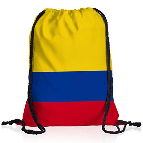 style3 Kolumbien Turnbeutel Rucksack Tasche Colombia Flagge WM EM Sport Beutel Festival Fahne Uni Schule Bunt