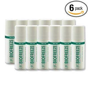BIOFREEZE Pack of Six (6) 3 Ounce Roll Ons by