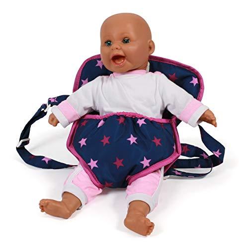 Bayer Chic 2000 782 72 Puppen-Tragegurt, Puppentrage, Stars Navy-pink