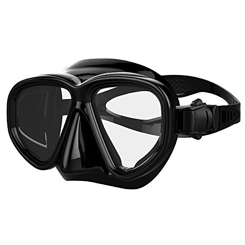 Kraken Aquatics Snorkel Dive Mask with Silicone Skirt and Strap for...