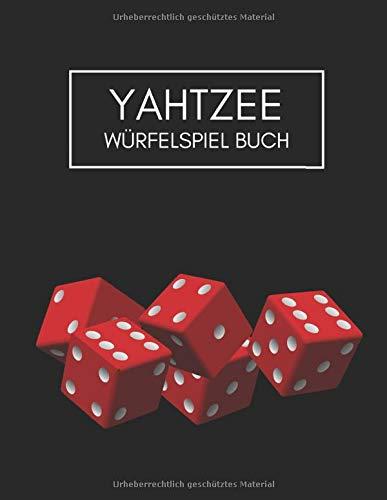Yahtzee Würfelspiel Buch: 8.5x11 Minimalistischer Yahtzee Würfelblock, Spielbuch, Punktezettel für bis zu 120 Spiele